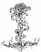 Tribal Rose Vine Tatto...