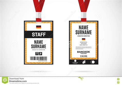 guest id card set vector design illustration cartoon