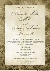 wedding invitation wording wedding invitation wording With 50th wedding anniversary invitation wording
