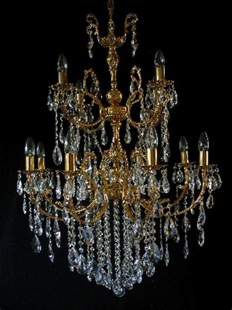 Riesen Kronleuchter Echtes Bleikristall Gold O Silber