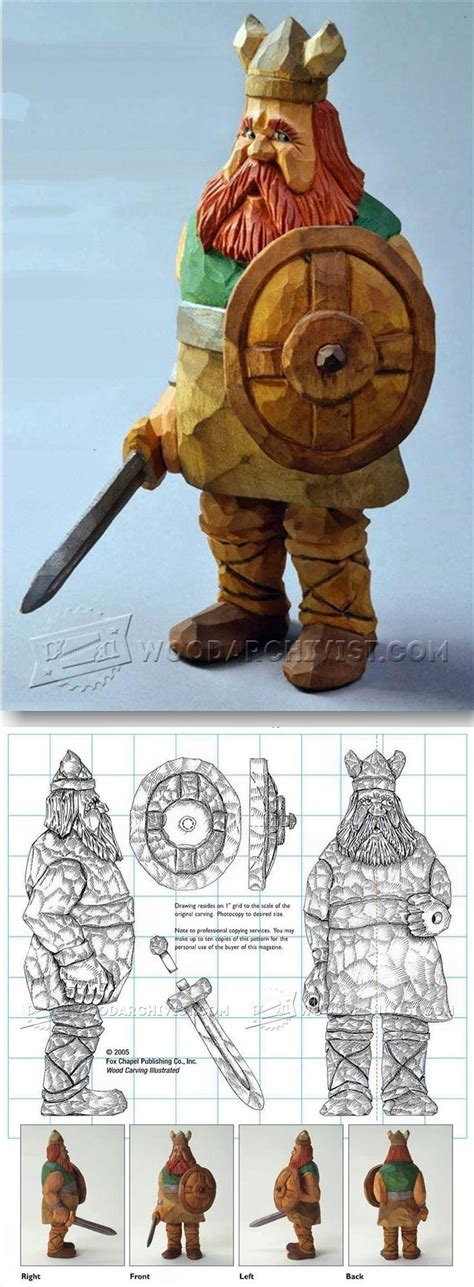 viking carving caricature wood carving patterns