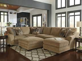 Chocolate Sectional Sofa Set With Chaise by Canyon Large Modern Brown Chenille Living Room Sofa