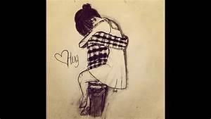 Couple hugging drawing - YouTube
