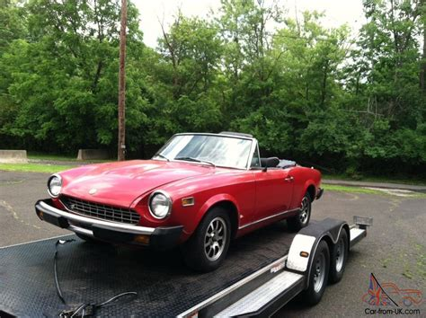 fiat spider 1978 1978 fiat 124 spider convertible with pa antique plates