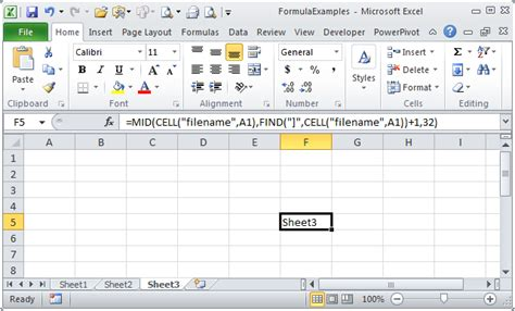 tom s tutorials for excel using a formula to get your