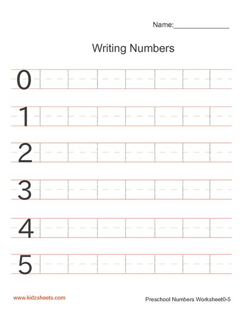 free printable preschool writing numbers worksheets free 575 | 600fe5a55eac5000743e01e00e809678
