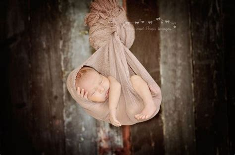 nutty brown cheesecloth newborn baby wrap photography prop