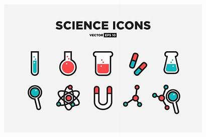 Science Icon Icons Creativemarket Drawing Biology Line