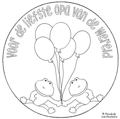 Kleurplaat Gefeliciteerd Oma Is Jarig by Tekening Verjaardag Opa