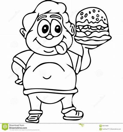 Coloring Pages Fast Junk Eating Burger Drawing