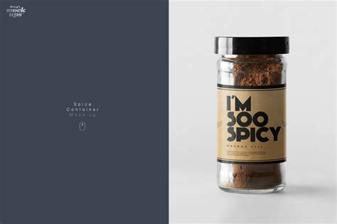 Posted in photoshop » banner & mockup template. Glass Spice Jar Mockup Psd » Designtube - Creative Design ...