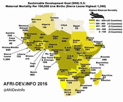 Maternal Mortality Africa Map Deaths Per Ratio