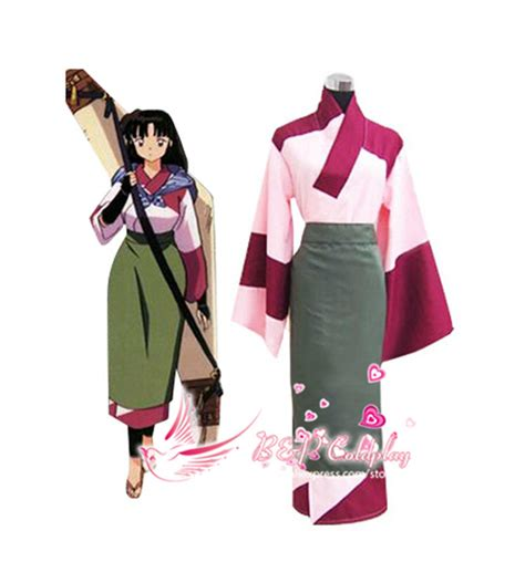 Bu0026P Coldplay InuYasha Sango Kimono Cosplay Costume Japanese Anime Clothes For Women Kimono ...