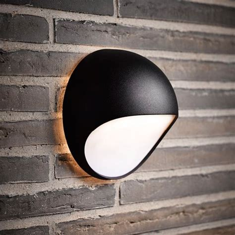 nordlux fuel led outdoor wall light black