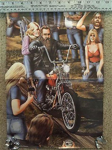 Easy Rider Magazine David Mann Artwork Reproduction Poster
