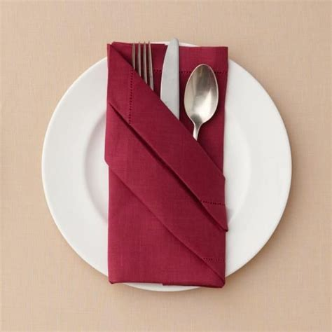 Servietten Falten Papier buffet napkin fold napkins wedding napkin folding
