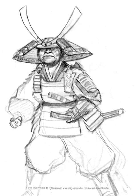 samurai  characters printable coloring pages