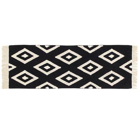 tapis lavable noir diamants blanc lorena canals ma