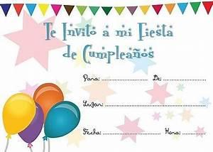Tarjetas para imprimir de invitación para cumpleaños Tarjetas para