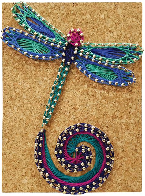 pretty twisted string art diy kit dancing dragonfly