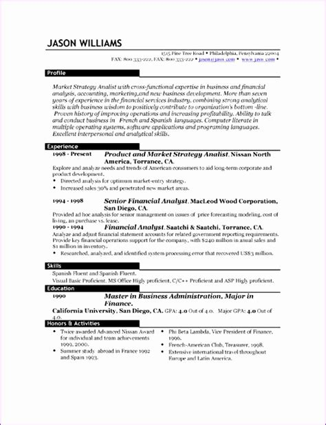 Exle Of Excellent Cv by 11 Excellent Cv Templates Free Exceltemplates