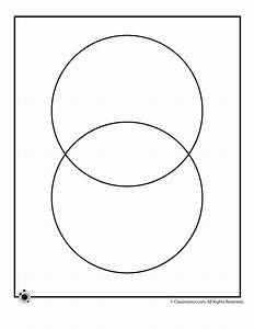 Printable Blank Venn Diagrams 2 Circle Venn Diagram