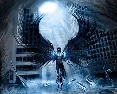Angels Fantasy Anime Angel Fallen Dark 3d
