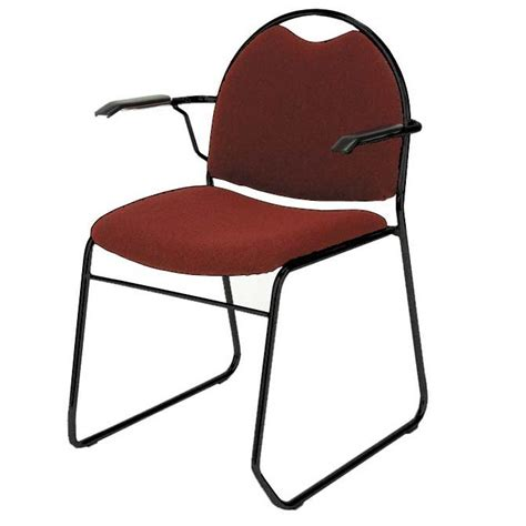 kfi rb310 rb311 back sled base stack chair with arms