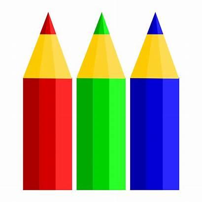 Pencils Pencil Clipart Colored Clip Svg Cartoon
