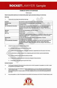 tc for supply of services to business customers With standard terms and conditions for services template