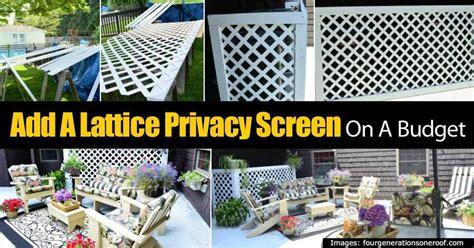 lattice privacy screen   budget