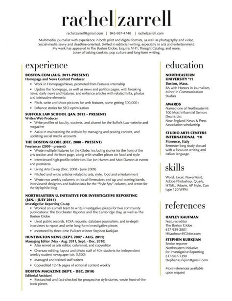 Resume Layout by Beautiful Resume Layout Two Column No Reference Section