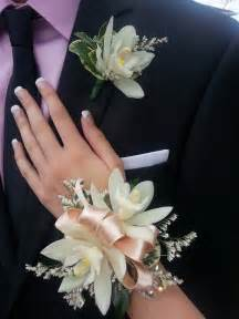 how to make a corsage wristlet miniature cymbidium orchid wrist corsage and boutonniere