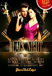 free nightclub flyer design templates - download free black night club psd flyer template