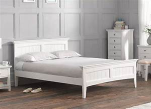 Pippa White Wooden Bed Frame