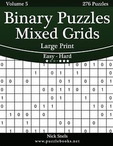 Binary Puzzles Mixed Grids Large Print