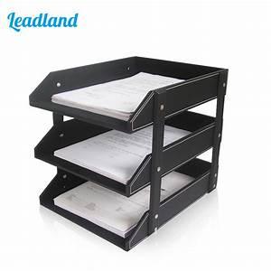aliexpresscom buy 3 layers pu leather desk a4 document With document shelf