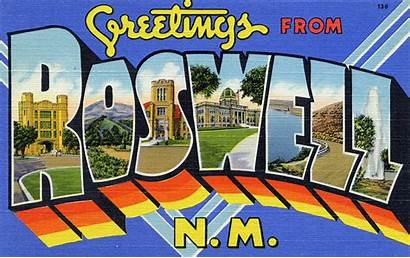 Roswell Greetings Mexico Letter Postcard Flickr Nm