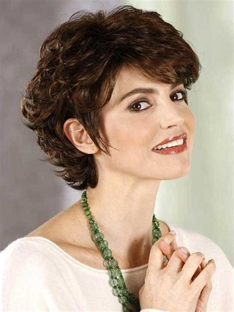 20 Best Collection of Short Haircuts Curly Hair Round Face