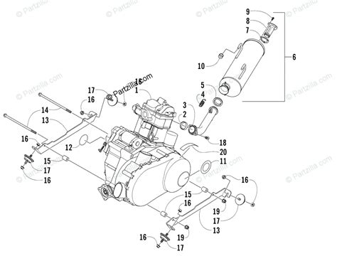 Arctic Cat Engine Diagram by Arctic Cat Side By Side 2006 Oem Parts Diagram For Engine