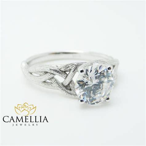 branch moissanite engagement ring 14k white gold