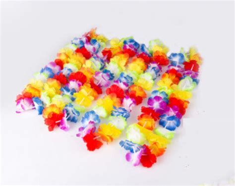 3pcs Colorful Flower Canvas Abstract Painting Print Art: 10pcs Colorful Flower Leis Garland Necklace Fancy Dress