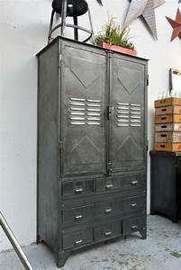Armoire Industrielle Vintage : armoire industrielle vers 1940 fumoir meuble servante ~ Teatrodelosmanantiales.com Idées de Décoration