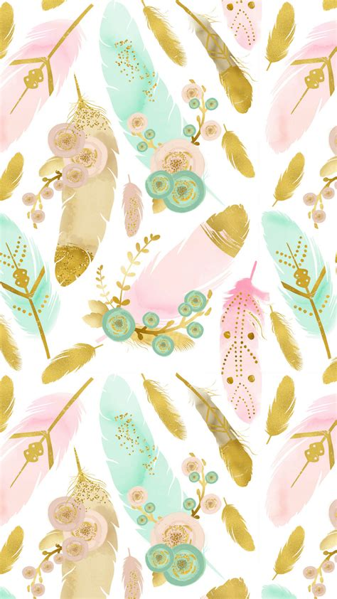 Find the best watercolor wallpapers on wallpapertag. Watercolor Feathers Boho Smart Phone Wallpaper # ...