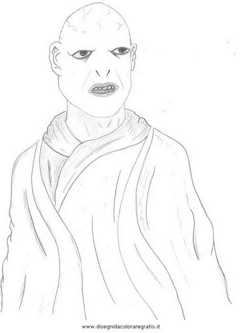 disegni harry potter personaggi disegno voldemort personaggio cartone animato da colorare