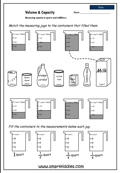 4 liters to ml measuring capacity in quarts and milliliters mathematics skills interactive activity