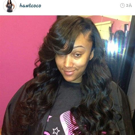 Unique Sew In Hairstyles by Side Part Sew In Stuff Hair