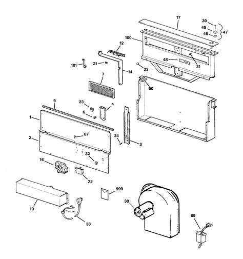 ge zvbwbww downdraft ventilation system parts sears partsdirect