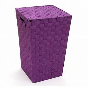 Panier A Linge Design : panier linge violet ~ Teatrodelosmanantiales.com Idées de Décoration