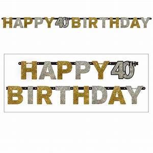 Deko Buchstaben Pappe : buchstaben girlande glamour se 40 happy birthday 2 1 m g nstig kaufen bei ~ Sanjose-hotels-ca.com Haus und Dekorationen